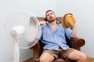 Sweltering without air conditioning